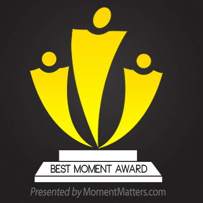 I won the Moment Matters Award!