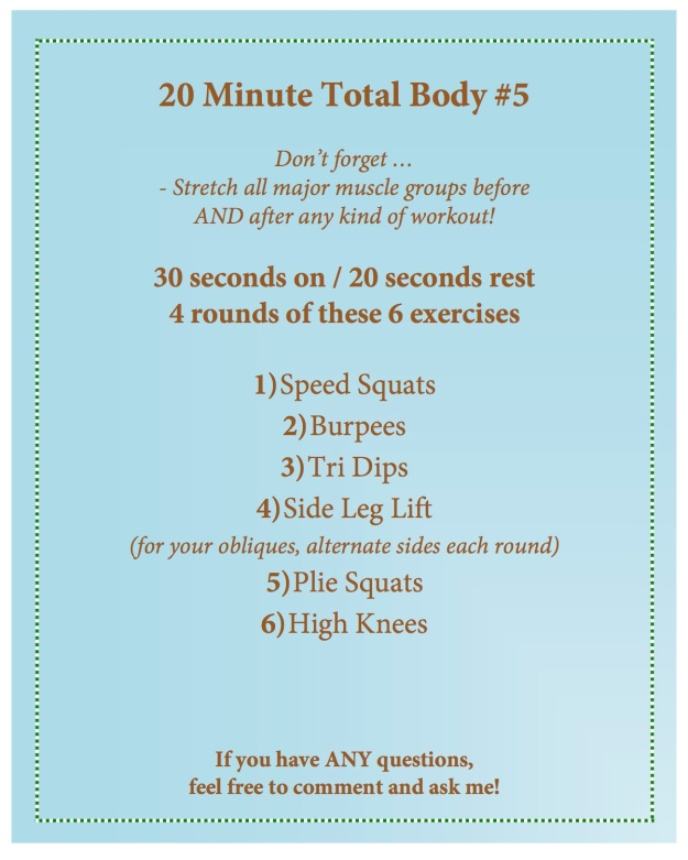20 minute total body 5