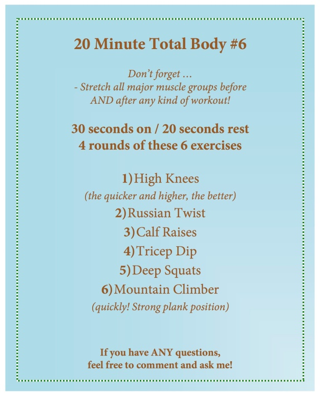 20 minute total body 6